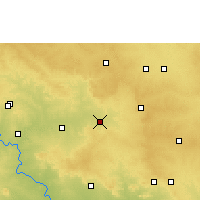 Nearby Forecast Locations - Tandur - Map