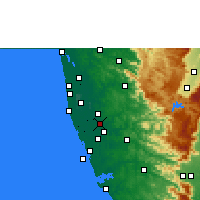 Nearby Forecast Locations - Thiruvalla - Map
