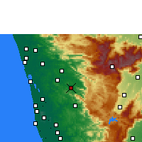 Nearby Forecast Locations - Thodupuzha - Map