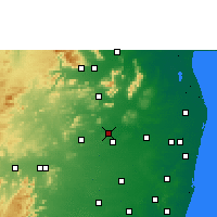Nearby Forecast Locations - Thiruttani - Map