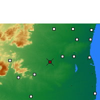 Nearby Forecast Locations - Tittakudi - Map