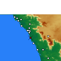 Nearby Forecast Locations - Vatakara - Map