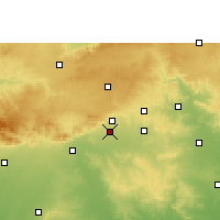 Nearby Forecast Locations - Warud - Map