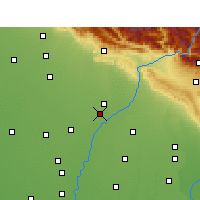 Nearby Forecast Locations - Yamuna Nagar - Map