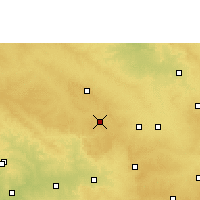 Nearby Forecast Locations - Zahirabad - Map