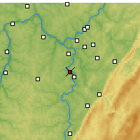 Nearby Forecast Locations - Monongahela - Map