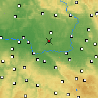 Nearby Forecast Locations - Chlumec nad Cidlinou - Map