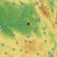Nearby Forecast Locations - Holice - Map