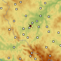 Nearby Forecast Locations - Holýšov - Map