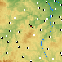Nearby Forecast Locations - Hořovice - Map