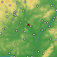 Nearby Forecast Locations - Hustopeče - Map