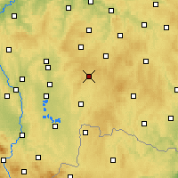 Nearby Forecast Locations - Kamenice nad Lipou - Map