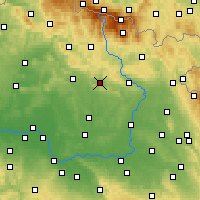 Nearby Forecast Locations - Lázně Bělohrad - Map