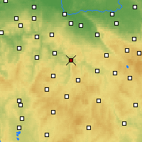 Nearby Forecast Locations - Ledeč nad Sázavou - Map