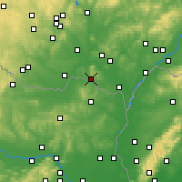 Nearby Forecast Locations - Mikulov - Map