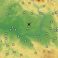 Nearby Forecast Locations - Nový Bydžov - Map
