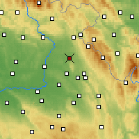 Nearby Forecast Locations - Opočno - Map
