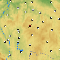 Nearby Forecast Locations - Pacov - Map