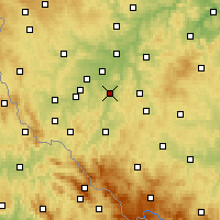 Nearby Forecast Locations - Přeštice - Map