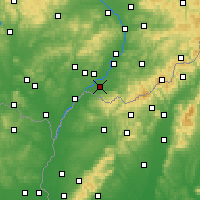 Nearby Forecast Locations - Strážnice - Map