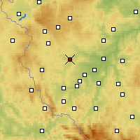 Nearby Forecast Locations - Stříbro - Map