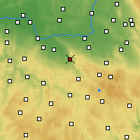 Nearby Forecast Locations - Třemošnice - Map