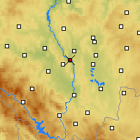 Nearby Forecast Locations - Týn nad Vltavou - Map