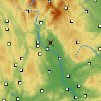 Nearby Forecast Locations - Uničov - Map