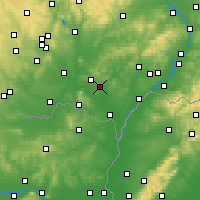 Nearby Forecast Locations - Velké Pavlovice - Map