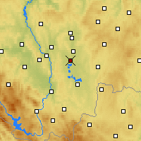 Nearby Forecast Locations - Veselí nad Lužnicí - Map