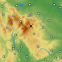Nearby Forecast Locations - Vrbno pod Pradědem - Map