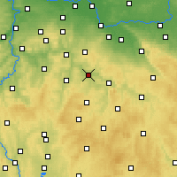 Nearby Forecast Locations - Zruč nad Sázavou - Map