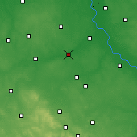 Nearby Forecast Locations - Białobrzegi - Map