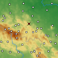 Nearby Forecast Locations - Bolków - Map