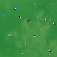 Nearby Forecast Locations - Dąbrowa Białostocka - Map