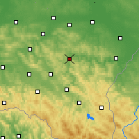 Nearby Forecast Locations - Dynów - Map