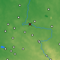 Nearby Forecast Locations - Działoszyn - Map