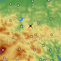 Nearby Forecast Locations - Grybów - Map