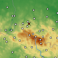 Nearby Forecast Locations - Gryfów Śląski - Map