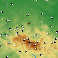 Nearby Forecast Locations - Lwówek Śląski - Map