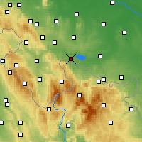 Nearby Forecast Locations - Paczków - Map