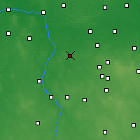Nearby Forecast Locations - Poddębice - Map