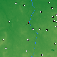 Nearby Forecast Locations - Warta - Map