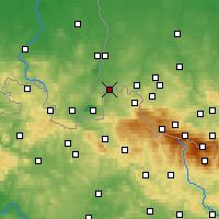 Nearby Forecast Locations - Zawidów - Map