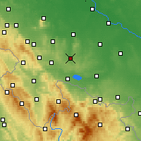 Nearby Forecast Locations - Ziębice - Map