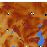 Nearby Forecast Locations - Sandıklı - Map
