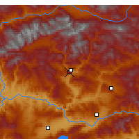 Nearby Forecast Locations - Tunceli - Map