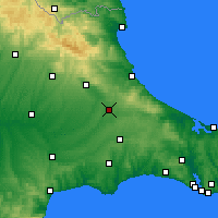 Nearby Forecast Locations - Saray - Map