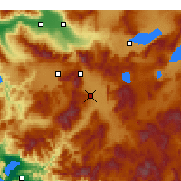Nearby Forecast Locations - Acıpayam - Map
