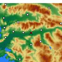 Nearby Forecast Locations - Köşk - Map